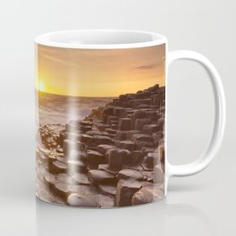 The Giant's Causeway in Northern Ireland at sunset Coffee Mug