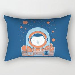 Orange Space Rectangular Pillow