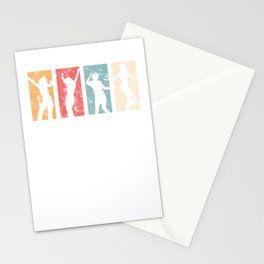Vintage Disco Dancer Dancing Women Retro Music Party  Stationery Cards