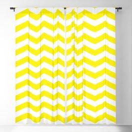 Yellow Chevron Pattern Blackout Curtain