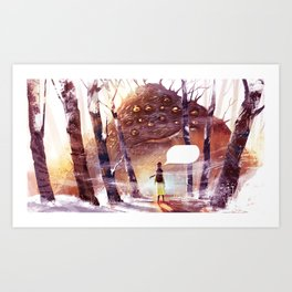 Speachless Art Print