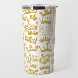 seamless pattern with crown Travel Mug
