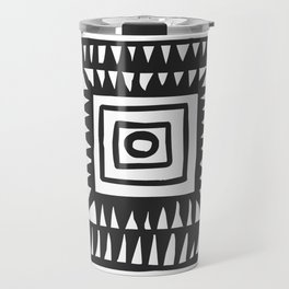 Tribal Print B&W- 02 Travel Mug