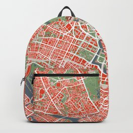 Tokyo city map classic Backpack