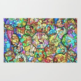 Mickey Mouse and Friends - Stained Glass Window Collage Rug
