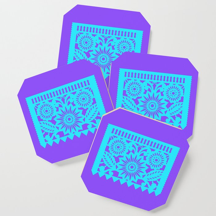 PAPEL PICADO - purple Coaster