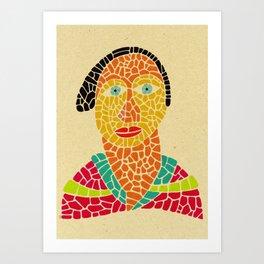 - la dame solaire - Art Print