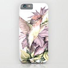 Hummingbird with Flowers iPhone 6s Slim Case