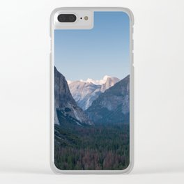 A Look At the Valley From Tunnel View in Yosemite Clear iPhone Case