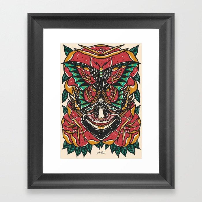 Butterfly Demon Framed Art Print