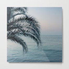 Palm & Ocean Dream #2 #tropical #pastel #wall #decor #art #society6 Metal Print