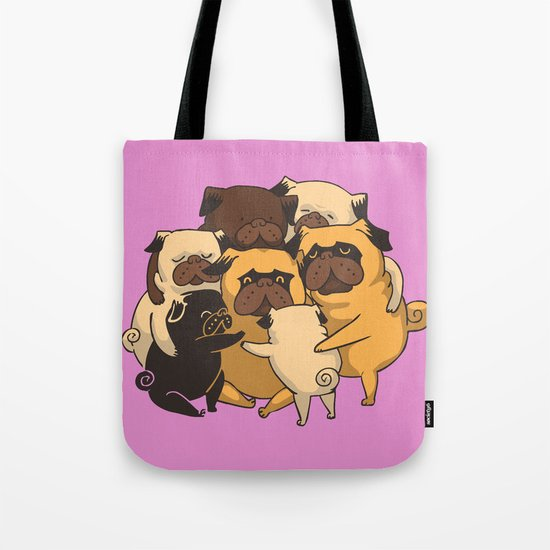 Pugs Group Hug Tote Bag