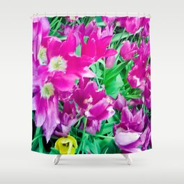 The beauty of the violet. Shower Curtain