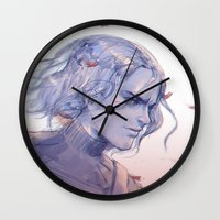 the winter soldier Wall Clocks featuring The Winter Soldier by x3uu