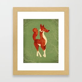 Foxing Around Framed Art Print