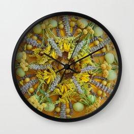 Nature Mandala: August Wall Clock