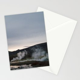 Sunset Geysirs Stationery Cards