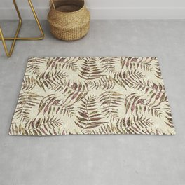 Layered Palm Leaves Rug