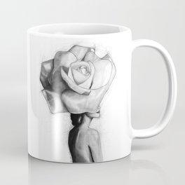 The woman with the head of a rose - Christy Turlington Coffee Mug