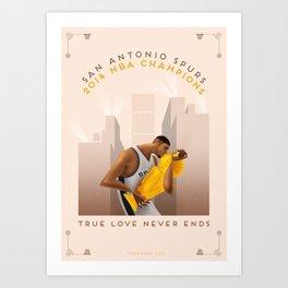 NBA PLAYOFFS 2014 - THE END Art Print
