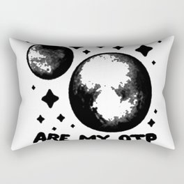 PLUTO _ CHARON ARE MY OTP T-SHIRT Rectangular Pillow