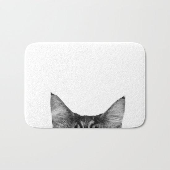 Cat Peeking Bath Mat