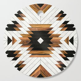 Urban Tribal Pattern 5 - Aztec - Concrete and Wood Cutting Board