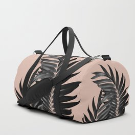 Palm Leaves Pale Terracotta Black Vibes #1 #tropical #decor #art #society6 Duffle Bag