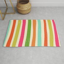 Cheerful Rainbow Stripes  Rug