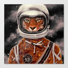 Tiger Astronaut Canvas Print