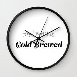 COLD BREWED COFFEE Wall Clock