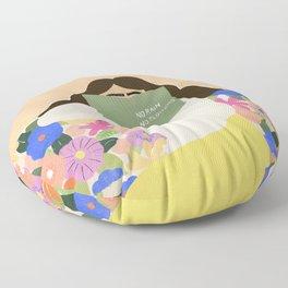 No Rain No Flowers Floor Pillow