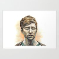kieren walker Art Prints featuring Kieren Walker by laya rose