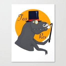 Earl Grey the Tea-Rex Canvas Print