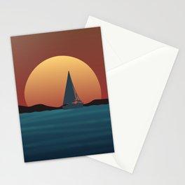 Boat Sunset Stationery Cards