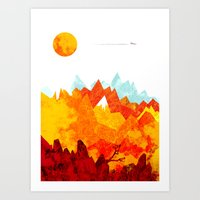 A far away land Art Print