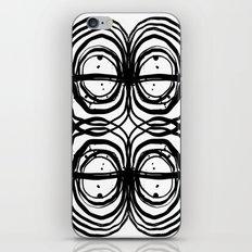 Abstract brushstrokes india ink free sprit boho painting swirl circle enso bullseye black and white iPhone & iPod Skin