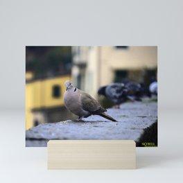 My Italian Bird Friend Mini Art Print