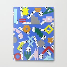 Abstract Postmodern Kilim Shapes Metal Print