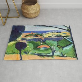 Henri Matisse View of Collioure and the Sea Rug