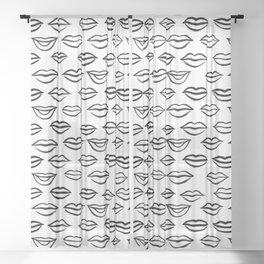 Lips galore Sheer Curtain