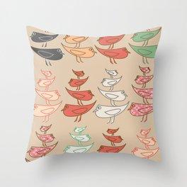 Birdie stax Throw Pillow