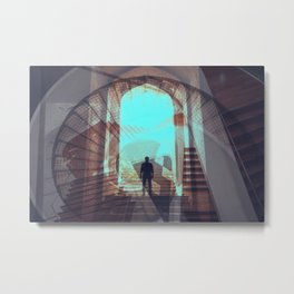 Stairways abstract photo collage Metal Print