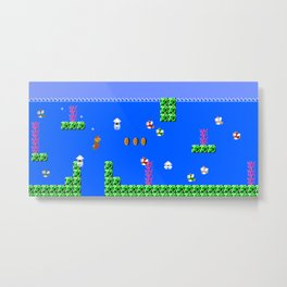 Mario Waterworld Metal Print