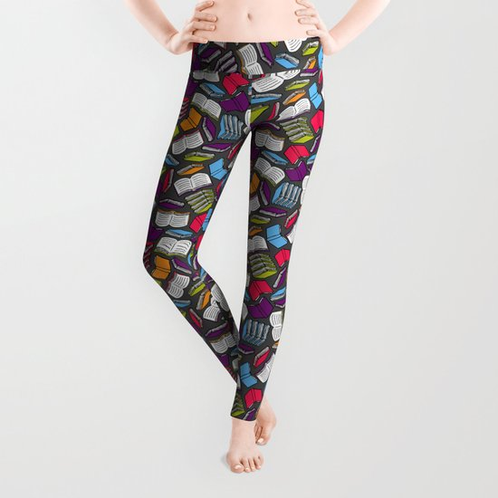 so many colorful books leggings