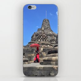 red, rising iPhone Skin