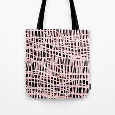Net Blush on Black Tote Bag