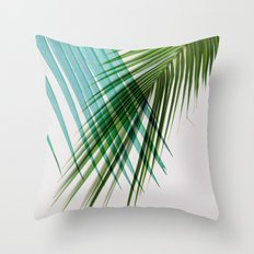 Palm Leaf, Botanical Leaves Throw Pillow