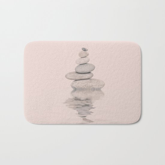 Balanced Harmony Zen Pebble soft pink Bath Mat