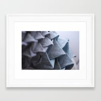 origami Framed Art Prints featuring Origami by Sasha Hocking / Adam Phillips